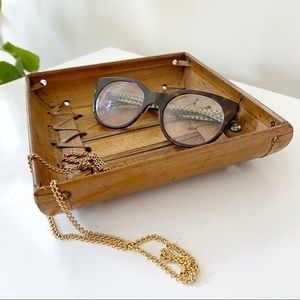 🎉5/20 SALE🎉VTG tiki bamboo woven trinket tray